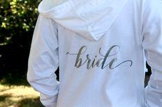 Bride Hoodie Jacket - Bride Zipup - Wedding Day Hoodie - Bachelorette - Bachelorette Party Hoodie - Bridal Jacket - Future Mrs. by GoldandGlamour on Etsy