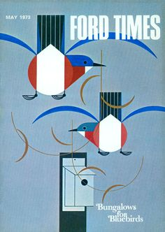 "Charley Harper, ""Bungalows for Bluebirds"", Ford Times."