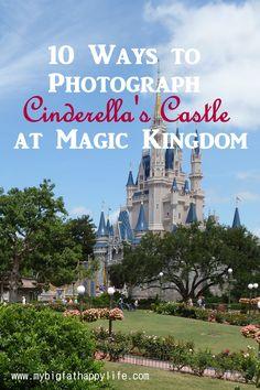 Cinderella's Castle Photo Ideas at Magic Kingdom, Disney World | mybigfathappylife.com
