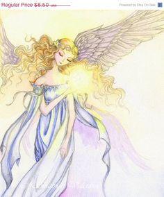 Angel Art My Little Star Art Print 5x7 Signed by ShannonValentine.