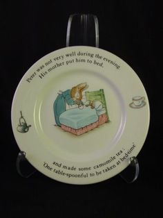 Wedgewood Beatrix Potter Tale of Peter Rabbit child's plate