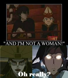 Avatar the Last Airbender/ Legend of Korra Not to mention that Raava (the Spirit that makes him the Avatar) IS the feminine part of Vaatu.