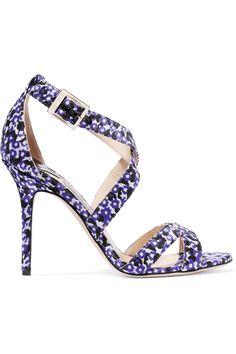 Jimmy ChooLottie floral-jacquard sandals