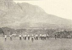 Cape Town rugby ground Newlands and Table Mountain, Old Pictures, Old Photos, Table Mountain, Out Of Africa, Beach Tops, My Land, African History, Cape Town, South Africa