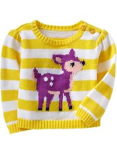 Striped Graphic Sweaters for Baby   Old Navy