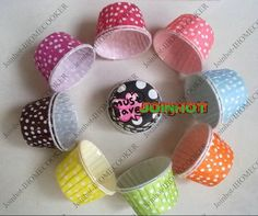 wholesale free shipping 100pcs cake cup ,cupcake cases ,bake cup,muffin cases,Dessert cup, cake packing, Polka Dot muffin holder-in Bakeware from Home & Garden on Aliexpress.com