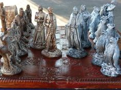 Dracula Vs Van Helsing Chess Set, Customisable Colours (Pieces only/Board not included) Vampires,Bats,Mina Harker,Renfield