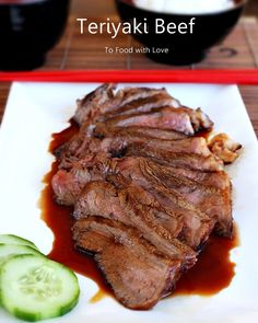 Grilled Beef with Teriyaki Sauce Ingredients 2 x Scotch fillet beef steaks Ground black pepper Vegetable oil Teriyaki sau. Molho Teriyaki, Teriyaki Beef, Teriyaki Sauce, Bbq Beef, Pork Recipes, Asian Recipes, Cooking Recipes, Recipies, Bento