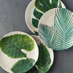 Tropical Foliage Melamine Plate   Terrain