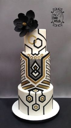 So excited to share my first professional competition entry. It was organised by SACDG (South African Cake Decorating Guild) and I entered the Advanced Category ( Was thinking of Masters, but chickened out :). Didn't have very high expectations,. Wedding Cake Images, Black Wedding Cakes, Beautiful Wedding Cakes, Wedding Cake Designs, Beautiful Cakes, Amazing Cakes, Art Deco Wedding Cakes, Wedding Art, Trendy Wedding