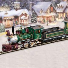 "Thomas Kinkade ""Christmas Express"" Train Collection"