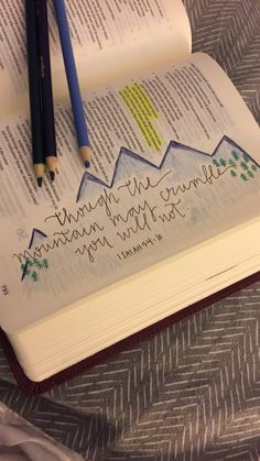Bible journaling with colored pencils. Lettering is gorgeous!