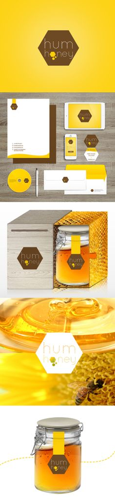 Hum Honey by giorgia negro, via Behance Sweet #packaging PD
