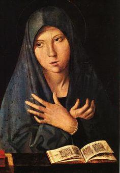 Virgin of the Annunciation - Antonello da Messina