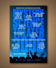 MYSTERY SCIENCE Theater 3000 TV Show Quote Poster