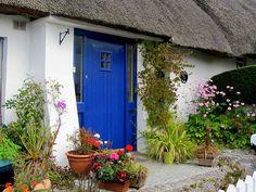 Blue door, Ireland . Dunmore East, Waterford, Ireland