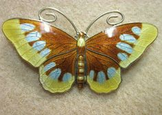 Large Stunning Norway Sterling Butterfly – Magnus Aase  & Theodor Olsens eftf in Jewelry & Watches, Vintage & Antique Jewelry, Fine, Retro, Vintage 1930s-1980s, Pins, Brooches   eBay