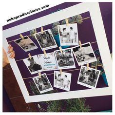 marco con fotos polaroid! pedi el tuyo x facebook. nekoproducciones