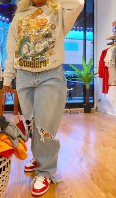 Cute Swag Outfits, Tomboy Outfits, Tomboy Fashion, Dope Outfits, Retro Outfits, Teen Fashion Outfits, Look Fashion, Streetwear Fashion, Trendy Outfits