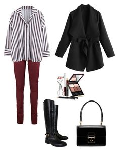 """Outfit"" by lilyhastings98 on Polyvore featuring moda, Tory Burch, Dolce&Gabbana ve Kevyn Aucoin"