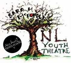 Youth Theatre, Logo, Logo design, branding, tree, education, memorial, hand drawing, ink, colored pencil, drawing, Rachael Joffred, Rachael Joffred Designs, Newfoundland, art, illustration
