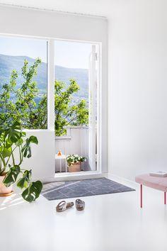 Hagl Pink doormat from Heymat  photo:Sofie Brovold