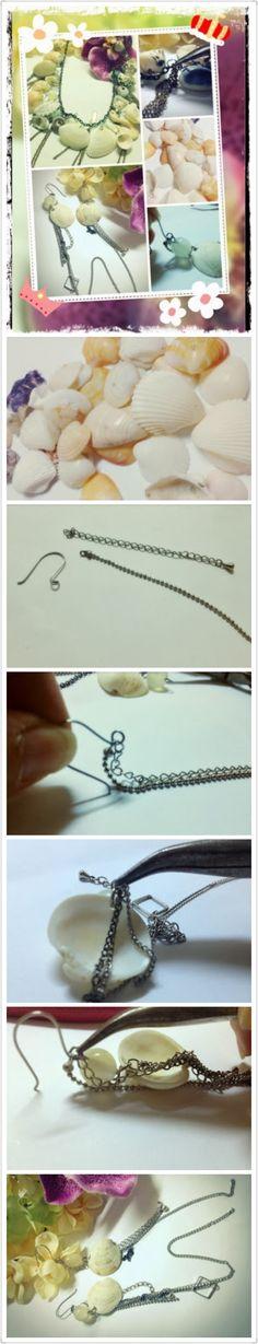 Ocean shell earrings   http://siusally.blogspot.hk/2013/12/salleeeaccessory-seashell-series.html?m=1