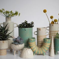Happy face planters by Atelier Stella