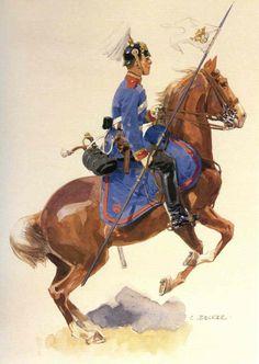 Unteroffizier, Königliches Bayerisches Schweres Reiter-Regiment Erzherzog Franz Ferdinant von Osterrich-Este Nr. 2  (By Carl Becker, from the Anne S.K. Brown Military Collection)
