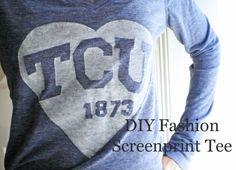DIY Screen Print Tee