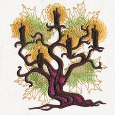 Autumn Equinox - Candelabra | Urban Threads: Unique and Awesome Embroidery Designs