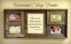 Custom Barnwood Collage by CustomFraming on Etsy, $45.00