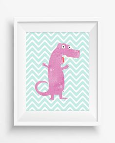 Dinosaur Print,Dinosaur Wall Decor, Dinosaur Art Retro,Nursery Decor,digital Prints, Playroom Decor,Fun Nursery Art,Baby Art Print,