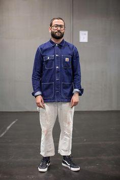 Carhartt Jacket - How Much Do Carhartt Jackets Shrink Workwear Fashion, Mens Fashion, Fashion Guide, Fashion Boots, Carhartt Jacket, Vintage Man, Japanese Street Fashion, Streetwear, Men Casual