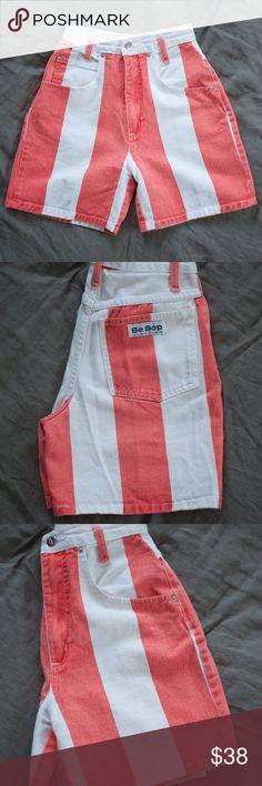 Vintage high waisted stripe shorts Vintage high waisted striped shorts Shorts