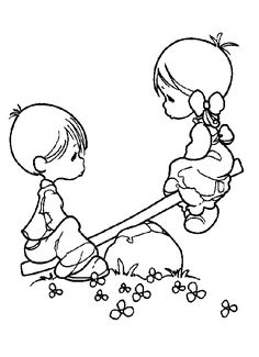 Precious Moments Boy And Girl Coloring Pages - Precious Moments Coloring Pages : KidsDrawing – Free Coloring Pages Online Coloring Pages For Girls, Coloring Book Pages, Coloring For Kids, Printable Coloring Pages, Boy Coloring, Precious Moments Coloring Pages, Digi Stamps, Colorful Pictures, In This Moment