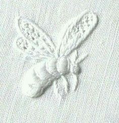 ≗ The Bee's Reverie ≗ white bee embroidery Bee Embroidery, Cross Stitch Embroidery, Embroidery Patterns, I Love Bees, Bee Art, Save The Bees, Bee Happy, Bees Knees, Bee Keeping