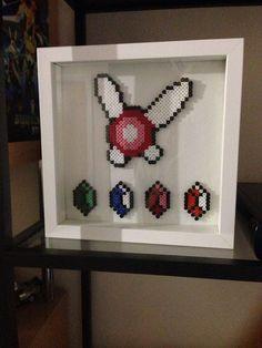 Rétro à la recherche d'art Hama perle Legend of Zelda !