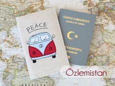 Peace Camper Aplikeli Pasaport Kılıfı