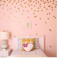 Adorable Polka Dots Wall Art Vinyl Wall Decals Removable Wall Stickers For Kids Bedroom Colorful Room Decor - packs Polka Dot Walls, Polka Dot Wall Decals, Vinyl Wall Decals, Sticker Vinyl, Vinyl Art, Gold Polka Dots, Sticker Shop, Rooms Home Decor, Bedroom Decor