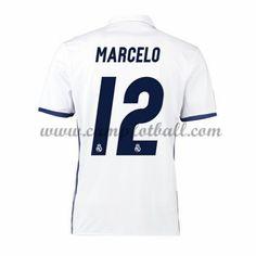 Real Madrid Fotballdrakter 2016-17 Marcelo 12 Hjemmedrakt