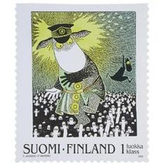 Moomin stamp / Tove Jansson, Writer, artist and illustrator from Finland Tove Jansson, Love Stamps, Mail Art, Stamp Collecting, My Stamp, Postage Stamps, Illustrators, Marjolein Bastin, Artwork