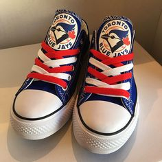 Toronto Blue Jays Designed Sneakers - http://cutesportsfan.com/toronto-blue-jays-designed-sneakers/