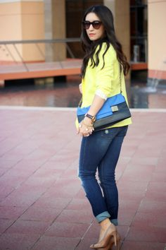 My uniform: Blazer, tee and destroyed jeans