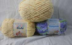 Lot of 3 Skeins Bernat Baby Blanket Yarn 3.5 oz #Bernat #Baby