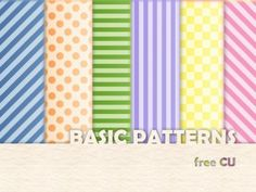Basic Patterns to help you make your design look happy