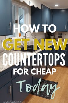 Updating your countertops on a budget is simple and won't put you into the temptation of overspending. DIY your new counters for cheap with these tips. remodel on a budget countertops Diy Home Decor Rustic, Cheap Home Decor, Kitchen On A Budget, Diy On A Budget, Easy Kitchen Updates, Cheap Kitchen Makeover, Budget Plan, Home Design, Design Ideas
