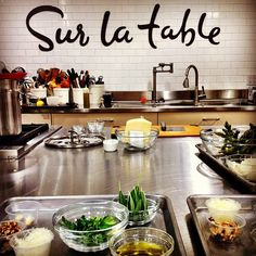 Prepped and ready! Sur la table cooking classes