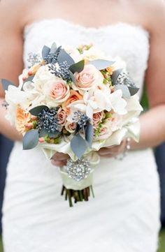 bouquets, grey, grey leaves, light pink, rose, white, Spring, blossoms, bouche, bouquet, colors, floral, flowers, fluff, fluffily, future, gorgeous, gray, ideas, inspiration, inspiring, peach, sunshine, wedding