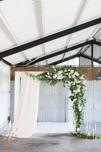 Wedding ceremony decorations indoor modern for 2019 Wedding Ceremony Ideas, Ceremony Arch, Backdrop Wedding, Wedding Altars, Indoor Ceremony, Indoor Wedding, Wedding Reception, Wedding Venues, Floral Wedding